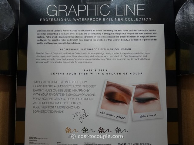 Pati Dubroff Graphic Line Waterproof Eyeliner Collection Costco 4