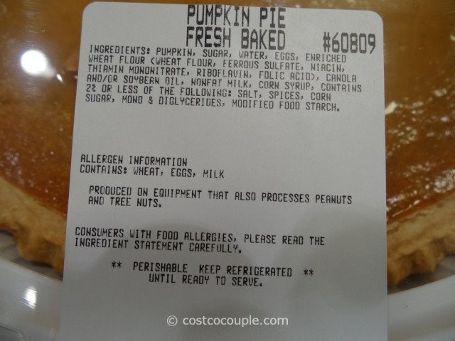 Pumpkin Pie Costco 2