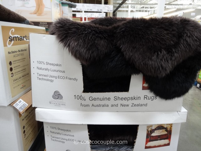Quad Genuine Sheepskin Area Rug