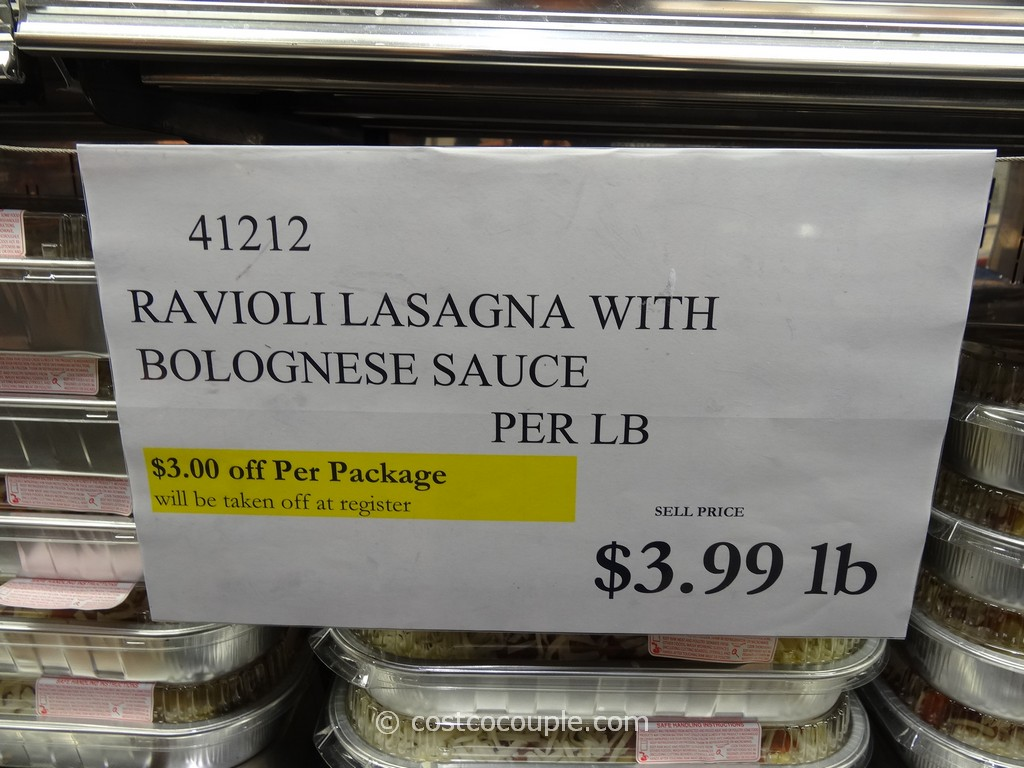 Image result for costco ravioli lasagna
