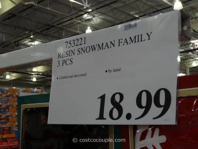 Resin Snowman Family Costco 1