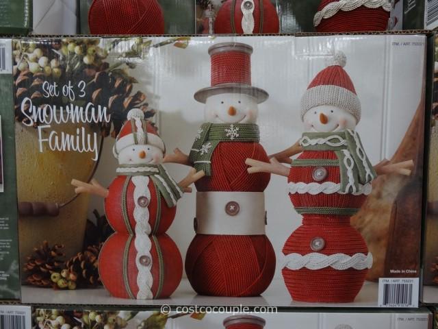 Resin Snowman Family Costco 3