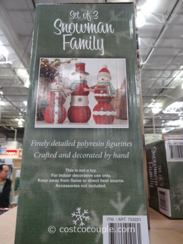 Resin Snowman Family Costco 4