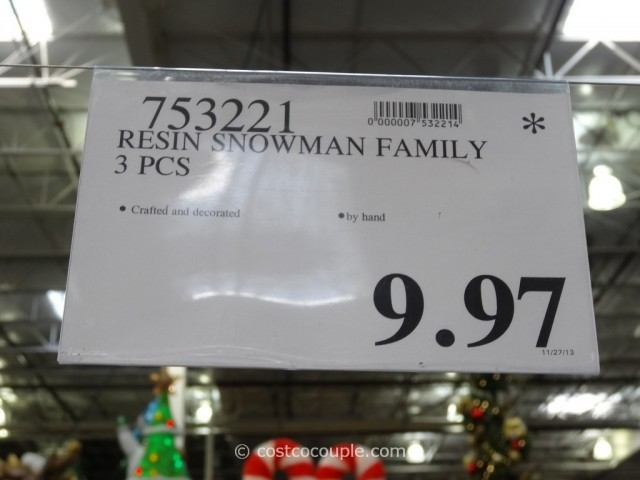 Resin Snowman Family Costco