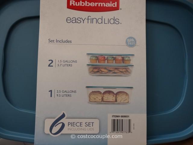 Rubbermaid 6 Piece Large Storage Food Set Costco  2