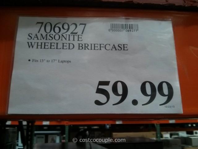 Samsonite Wheeled Briefcase Costco 1