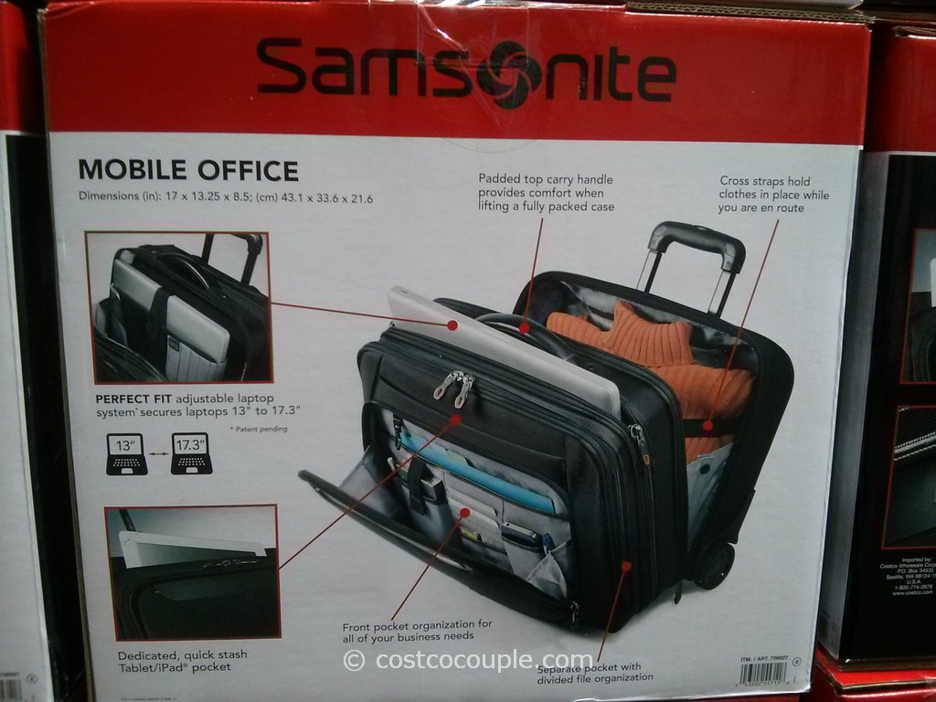 Samsonite Mobile Office Wheeled Briefcase