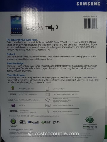 Samsung Galaxy Tab 3 8Inch Costco 2