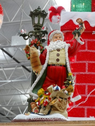 Santa With LED Lamp Post Costco 5