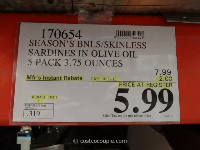 Seasons Brand Sardines Costco