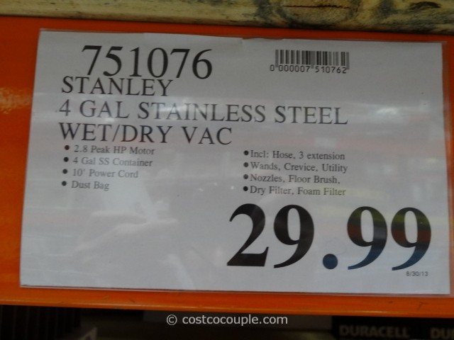 Stanley Stainless Steel Wet Dry Vacuum Costco 1