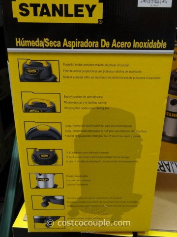 Stanley Stainless Steel Wet Dry Vacuum Costco 4