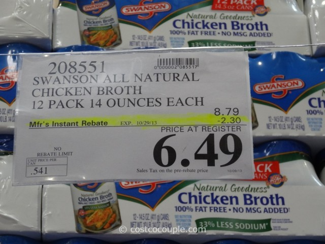 Swansons All Natural Chicken Broth Costco 2