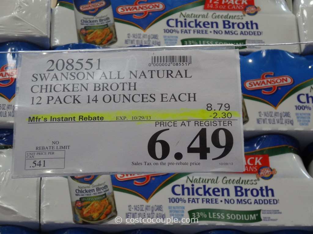 Costco Hotel Discounts >> Swanson All Natural Chicken Broth