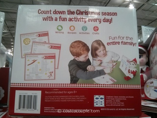 The Elf On The Shelf Plush Elf and Advent Activity Set Costco 3