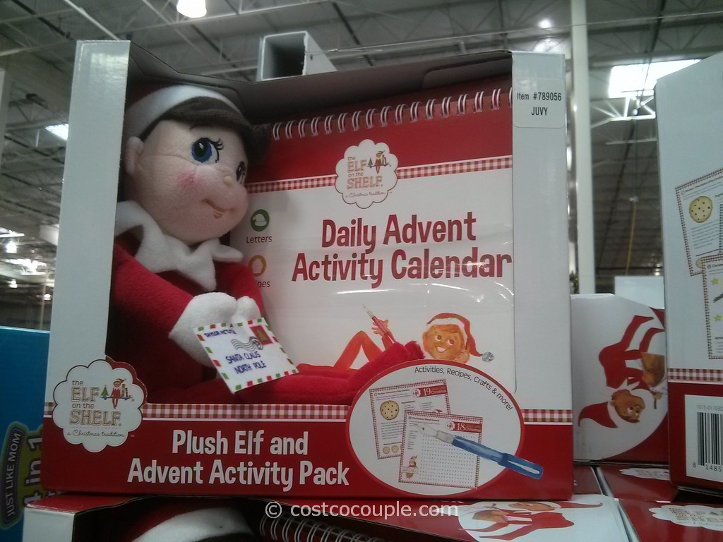 The Elf On The Shelf Plush Elf and Advent Activity Set Costco 4