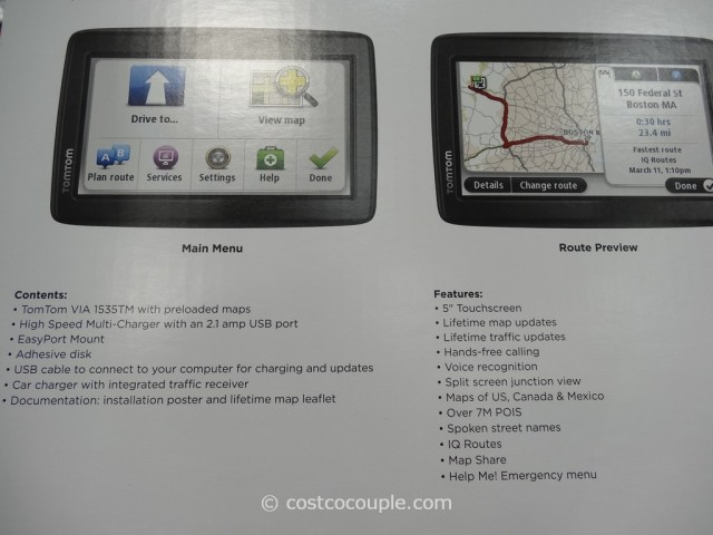 TomTom VIA GPS 1535TM Costco 3