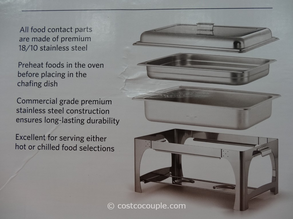 Tramontina 9qt Stainless Steel Chafing Dish