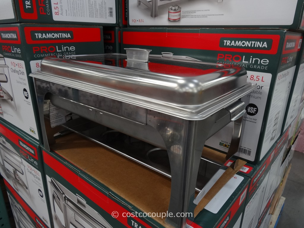 Tramontina 9Qt Stainless Steel Chafing Dish Costco 6