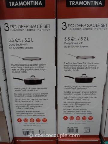 Tramontina Deep Saute Set Costco 3