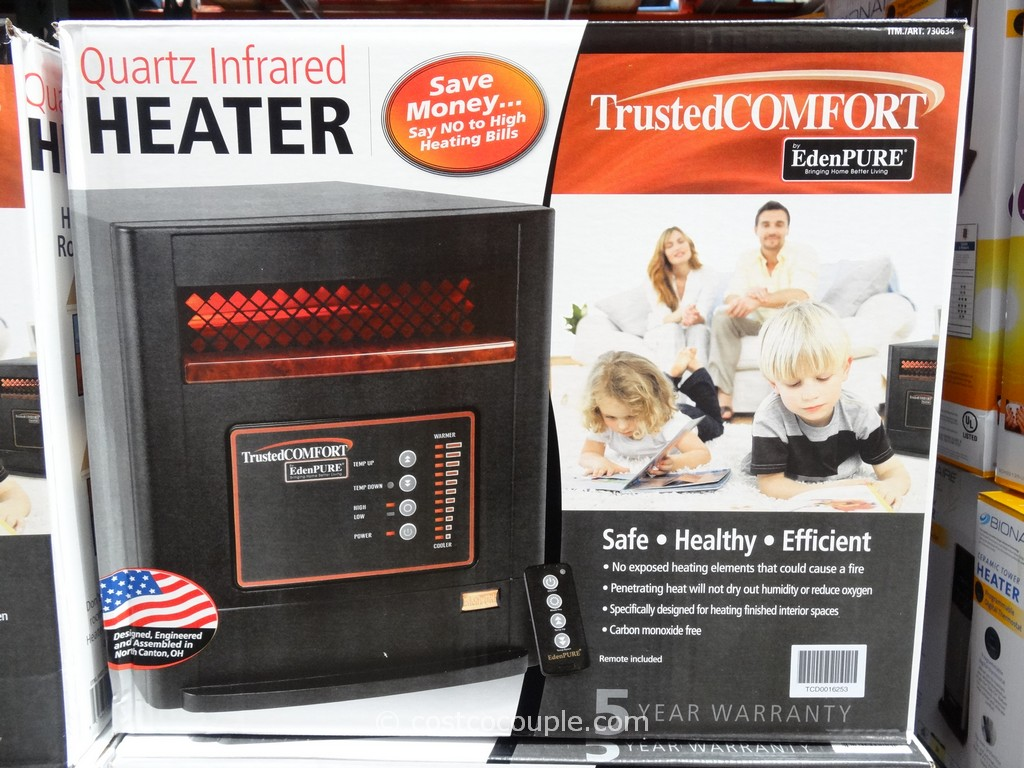 Trusted Comfort Quartz Infrared Heater Costco 1