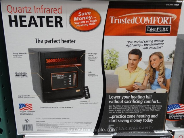 Trusted Comfort Quartz Infrared Heater Costco 2