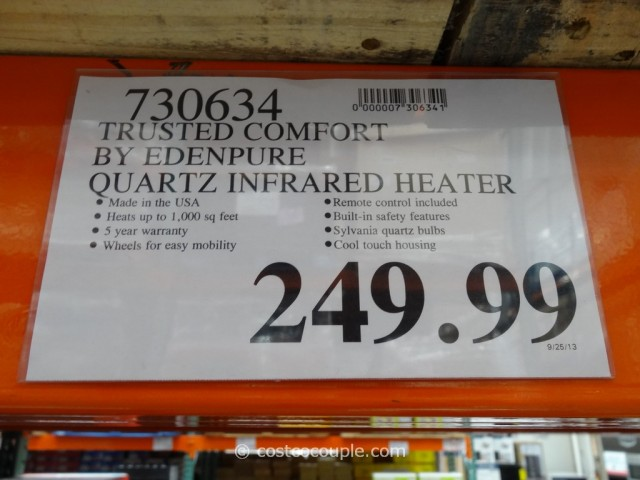Trusted Comfort Quartz Infrared Heater Costco 4