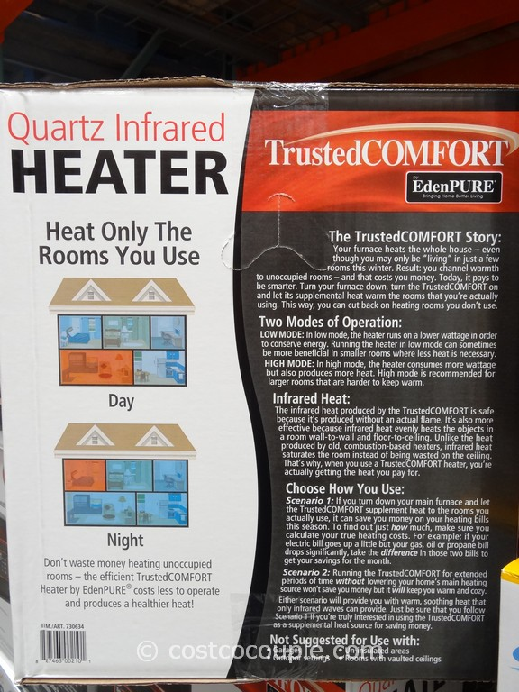 Trusted Comfort Quartz Infrared Heater