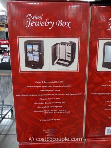 Wooden Swivel Jewelry Box Costco 3
