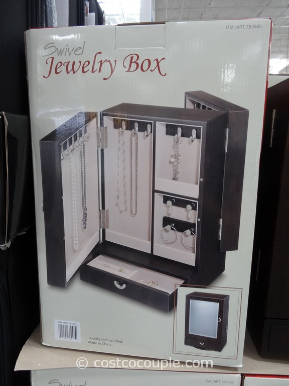 Wooden Swivel Jewelry Box Costco 4