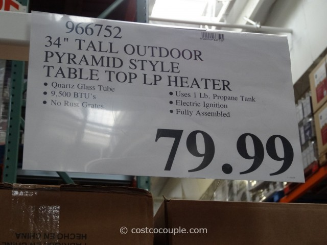 34-Inch Table Top Patio Heater Costco 4