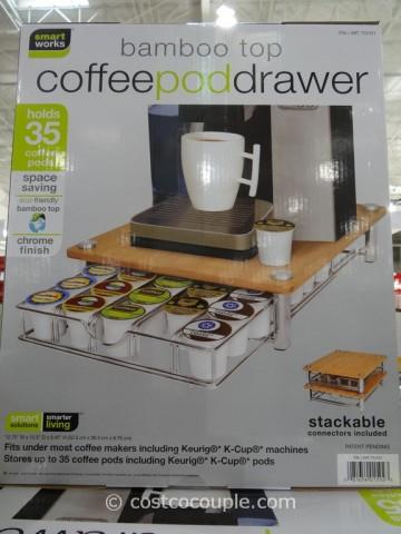 SmartWorks Bamboo Top Coffee Pod Drawer Costco 1