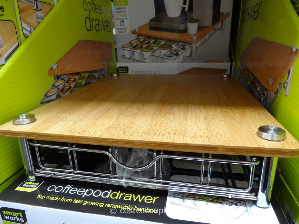 SmartWorks Bamboo Top Coffee Pod Drawer Costco 5