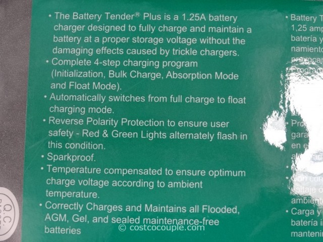 Battery Tender Automatic Battery Charger Costco 4