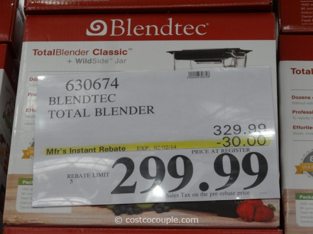 Blendtec Total Blender Costco 1