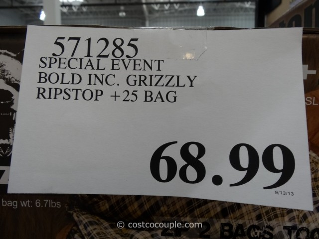Bold Inc Grizzly Ripstop Sleeping Bag Costco 1
