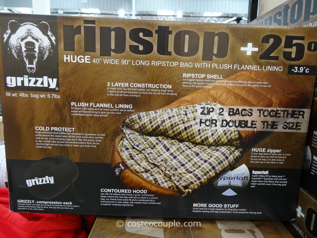 Bold Inc Grizzly Ripstop Sleeping Bag Costco 3