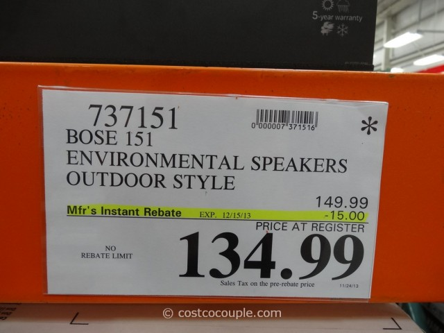 Bose 151 Indoor Outdoor Speakers Costco 2