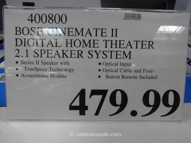 Bose Cinemate II Digital Home Theater Costco 1