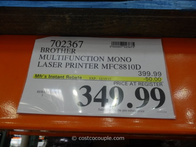 Brother Laser Multi-Function Laser Printer Costco 1