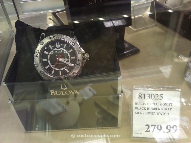 Bulova Precisionist Black Rubber Strap Mens Watch Costco 3