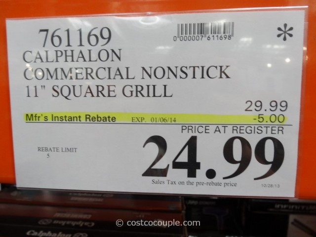 Calphalon Commercial Nonstick Square Grill Costco 2