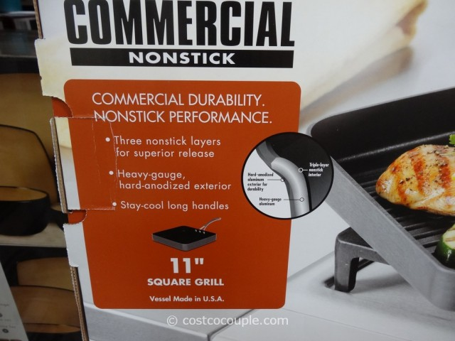Calphalon Commercial Nonstick Square Grill Costco 4