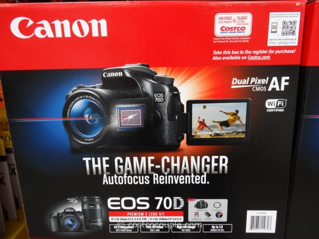 Canon EOS 70D DSLR Kit Costco 2
