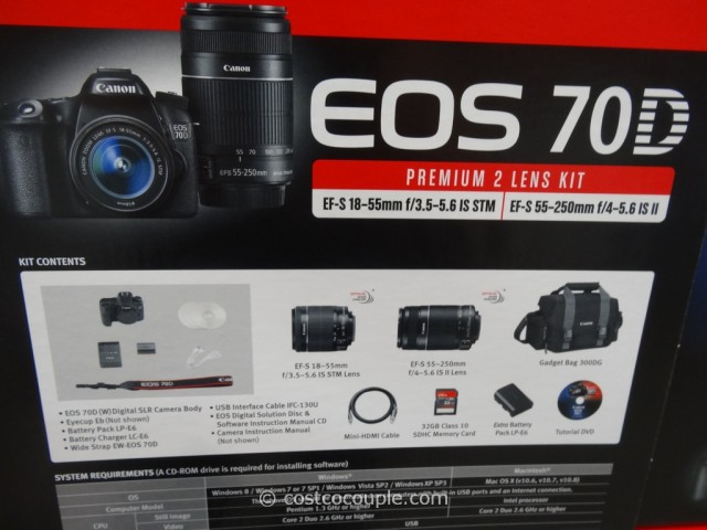 Canon EOS 70D DSLR Kit Costco 3
