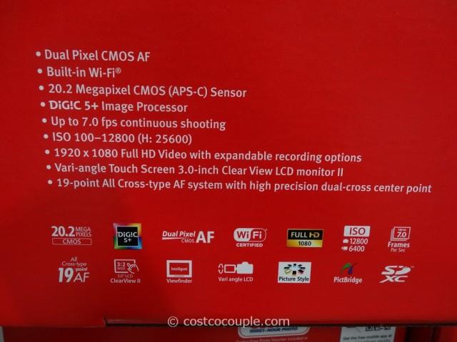 Canon EOS 70D DSLR Kit Costco 4