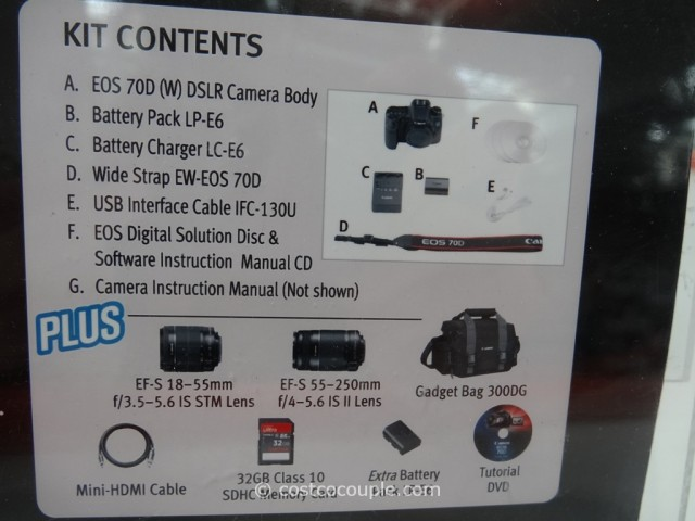 Canon EOS 70D DSLR Kit Costco 5