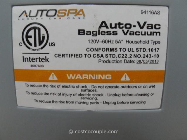 Carrand AutoSpa AutoVac Bagless Vacuum Costco 2