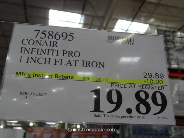 Conair Infiniti Pro 1-Inch Flat Iron Costco 1