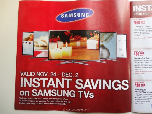 Costco 2013 Thanksgiving Weekend Savings 2
